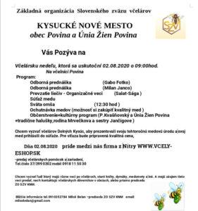 Pozvání na Včelársku nedeľu do Kysuckého Nového Mesta